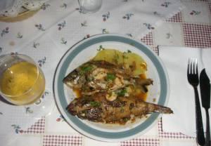 民宿のクロアチア風魚料理ブロゼット