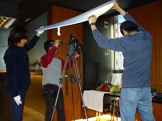 ブライダルビデオの株式会社クリスマスツリーのイメージ写真(野菜の物撮りをします)