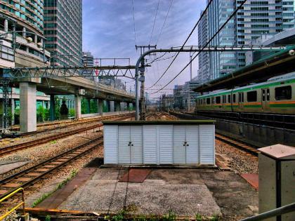 東京駅の小屋