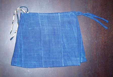 泥染め巻きスカート