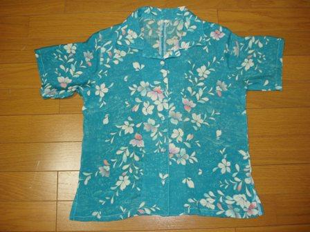 着物リメイクアロハシャツ