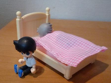 ベッド半分使っていいよ
