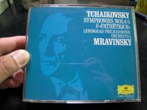 お気に入りCD、エフゲニ・ムラヴィンスキー指揮レニングラード・フィル、チャイコフスキー/交響曲4・5・6番、