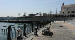 USJシャトル船の乗場の公園
