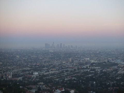 ロサンゼルスの夕景