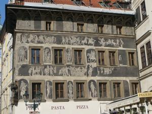 旧市庁舎壁