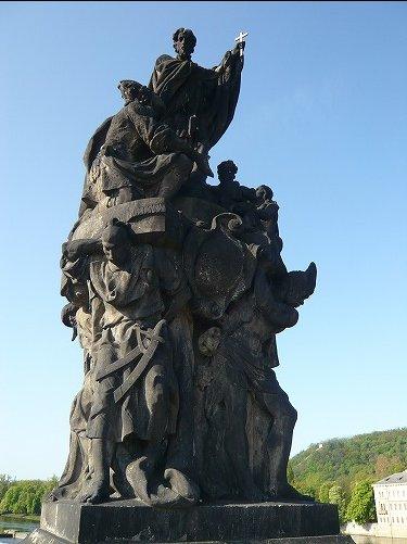 カレル橋ザビエル像