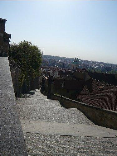 登城階段から