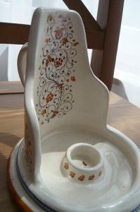 陶器キャンドルスタンド