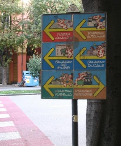 モデナの看板