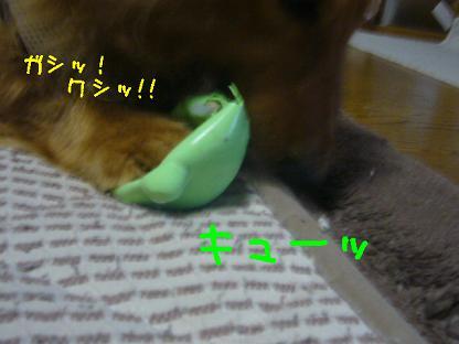 つぶれ><