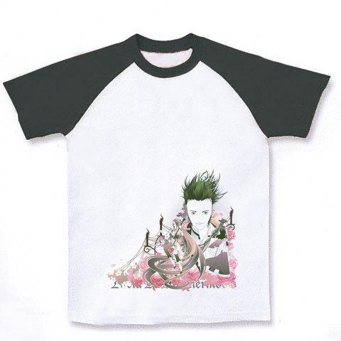 [Oriental Lucia ラグランTシャツ(ホワイト×ブラック)]