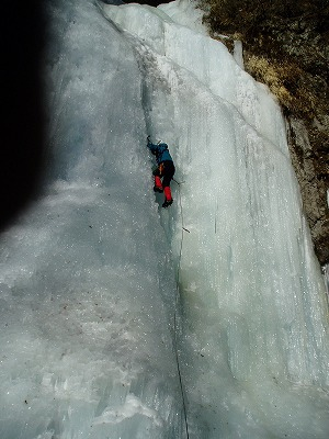 錦滝を登る2