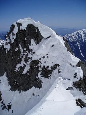 コブ岩の下降点