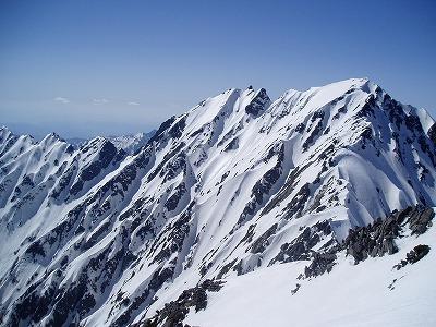 前穂高岳から見た南稜