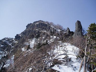 岩稜帯への取り付き