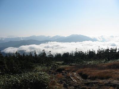 中ノ芝から谷川岳方面