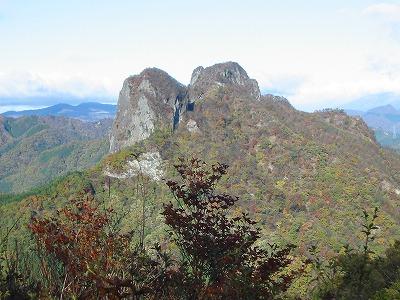 四ツ又山から鹿岳
