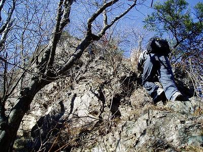 二子岩西峰の登り