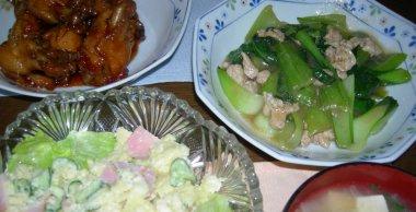 苦肉の策の鶏肉の煮物