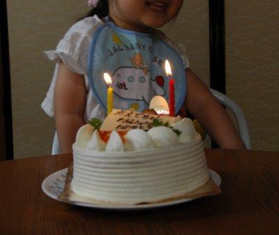 楓ちゃん、2歳おめでと~♪