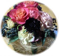 珍しい黒いお花も