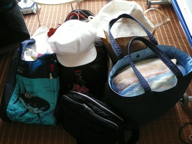 彼女らの荷物です。。