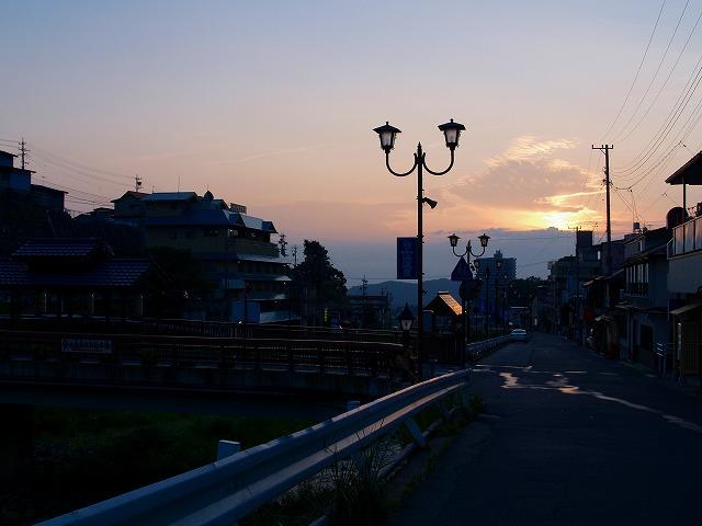 渋温泉の夕暮れ