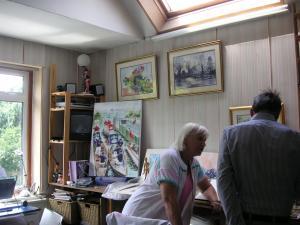 スタジオは二階に
