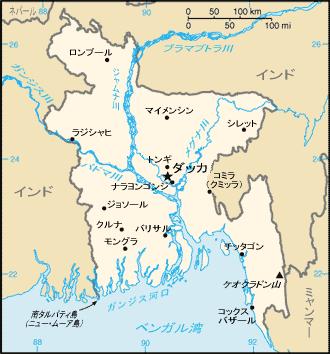 バングラ国内地図