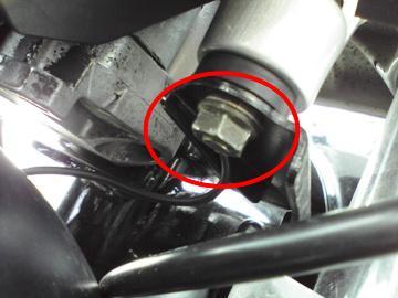 XJR1300 油温計取り付け