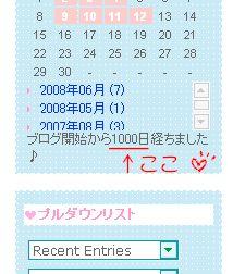 1000日おめでとう!