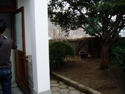 *チュンサンの家の玄関の横~*