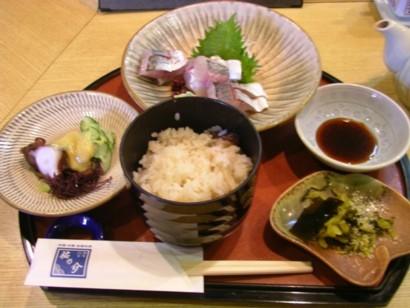 関アジ定食