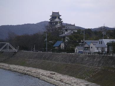 岡山城のすぐ近くです。