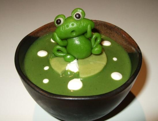 カエルさんの抹茶ぷりん1