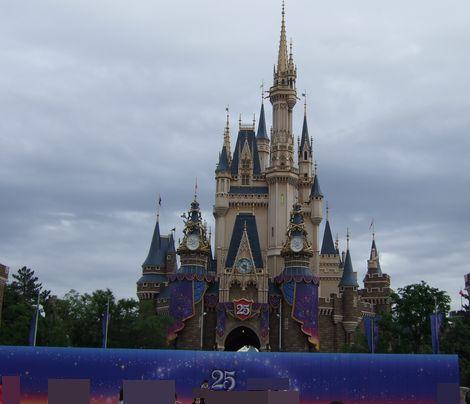 お城に壁が。