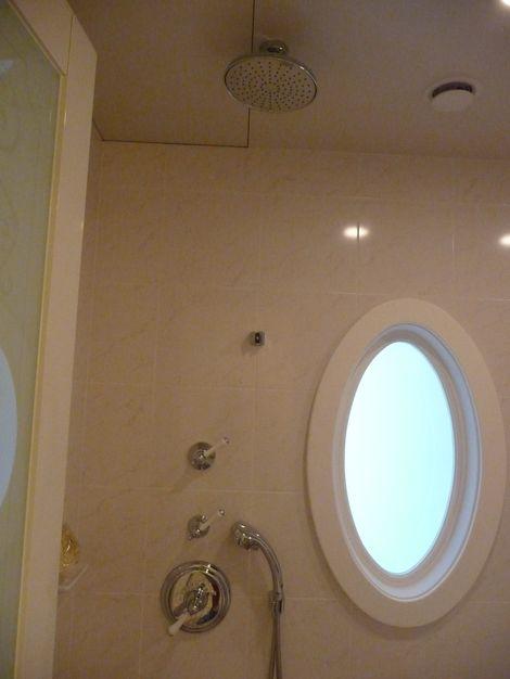 バスルームのシャワーは二種類