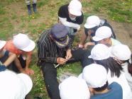 子供達に接ぎ木伝授H200501