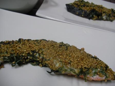 鮭のしそゴマ焼き