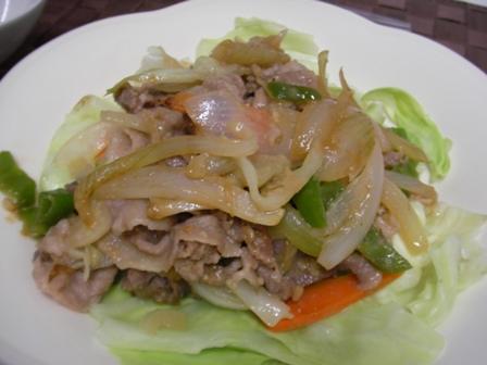 豚肉野菜味噌炒め