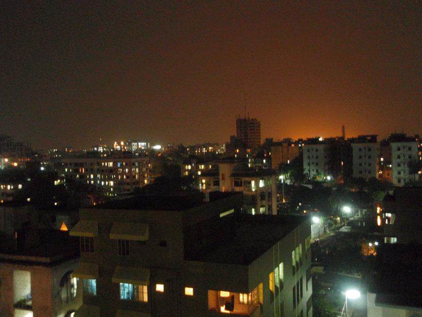 ベランダから夜景