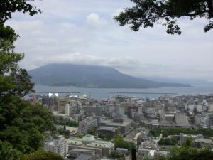 城山から見える桜島