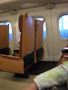 九州新幹線の中