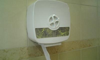 香港九龍公園内公衆トイレ内トイレットベーパー