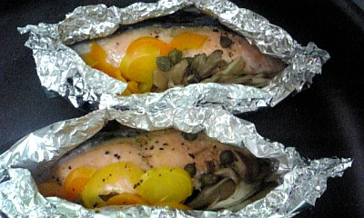 鮭のホイル包み2