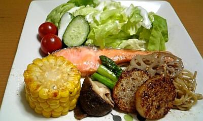 鮭と野菜ののバター焼き♪