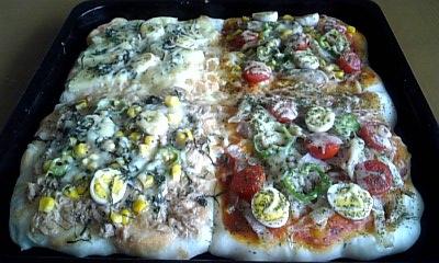 ピザ焼きあがり♪