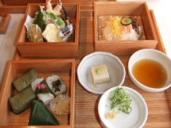 ゐざさ天ぷらセット
