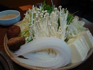 野菜・豆腐・くずきり